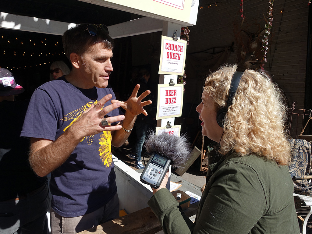 An interview with the local National Public Radio Station.